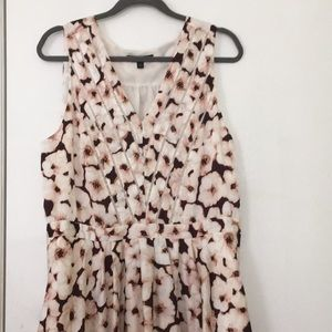 Banana Republic V Neck Midi Dress Sz 14